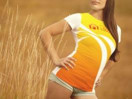 T-shirt, objet publicitaire sur textile ou plastique