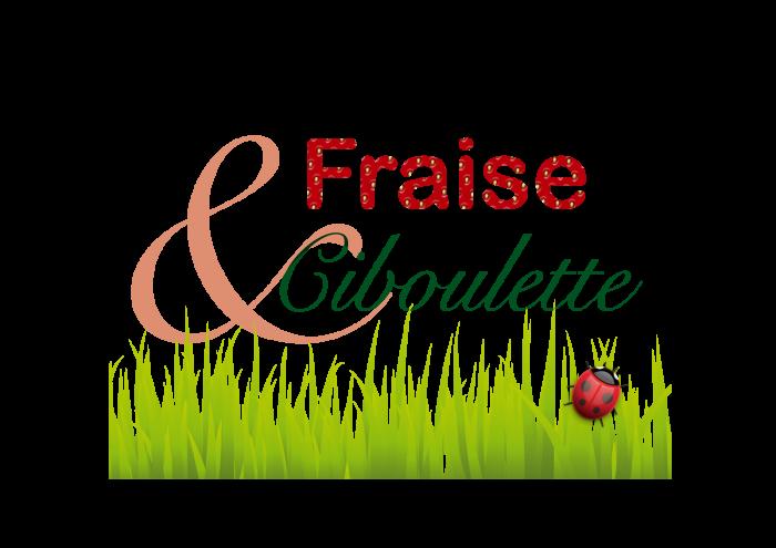 Essai de logo pour l'association AMAP Fraise et Ciboulette de Mouroux, Seine-et-Marne