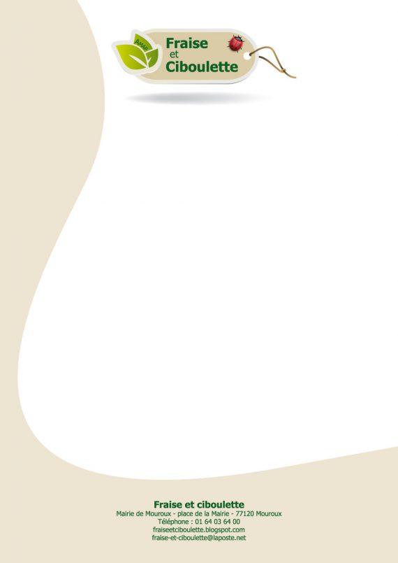 Essai de tête de lettre pour l'association AMAP Fraise et Ciboulette de Mouroux, Seine-et-Marne