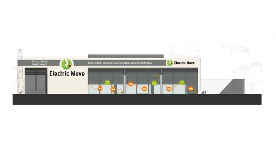 Projet d'enseigne réalisé pour electric move par nicolascrechet.com