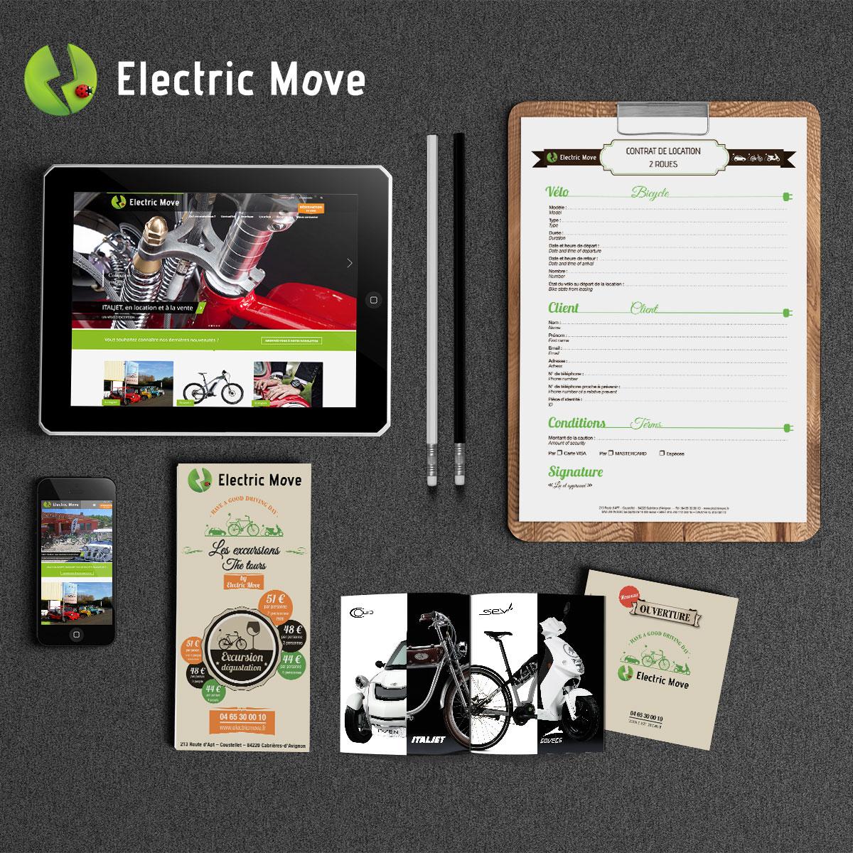 Vue générale des supports réalisés par nicolascrechet.com pour electric move
