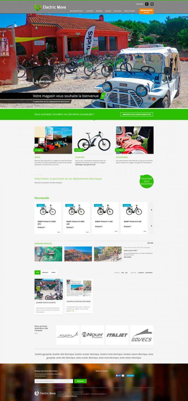 page d'accueil du site internet d'electric move