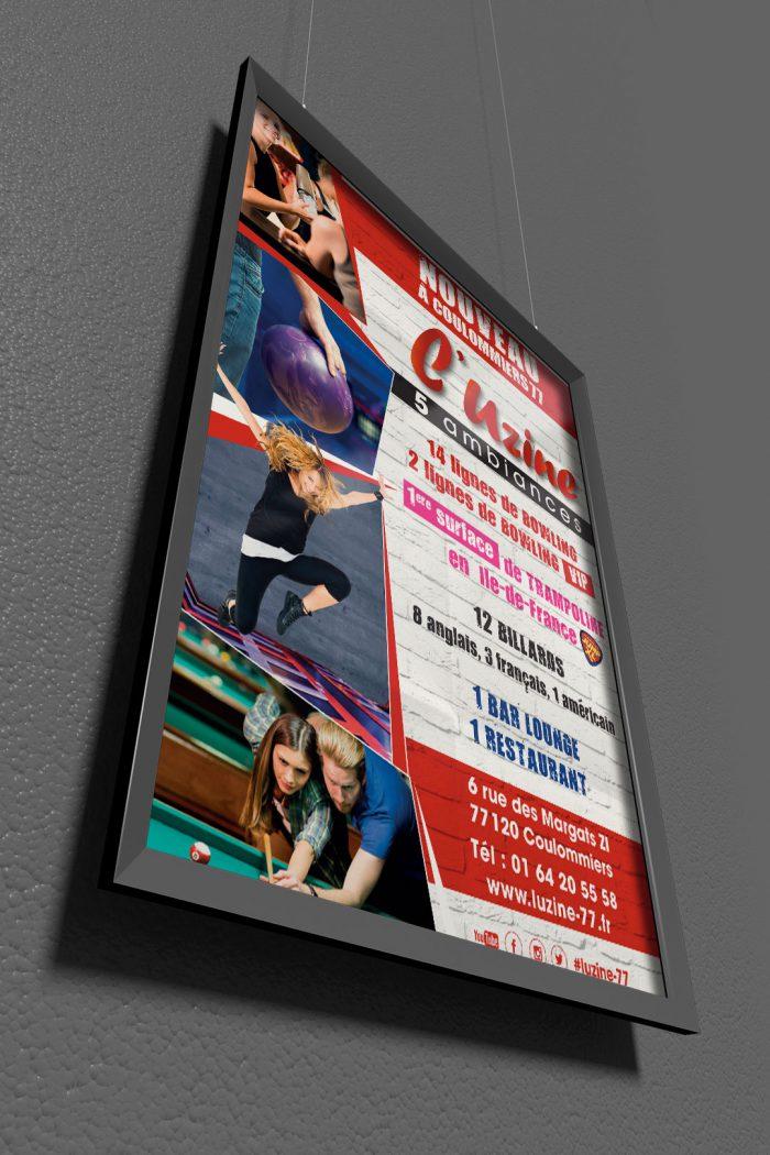 Affiche 50x70 publicitaire pour l'Uzine à Coulommiers