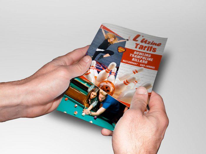 Flyer tarif recto de l'Uzine à Coulommiers