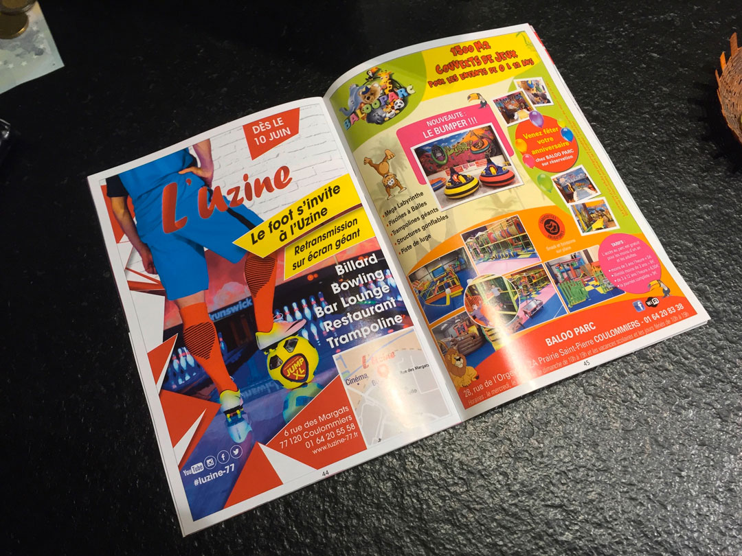 Page publicité pour l'Uzine à Coulommiers dans journal Le Pays Briard
