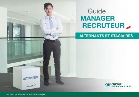 brochure du guide 2015 du manager-recruteur réalisée pour le compte des ressources humaines du Groupe du Crédit Agricole-COUVERTURE