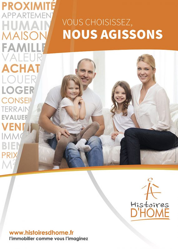Histoire d'Home Flyer recto famille