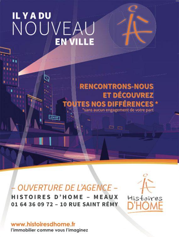 Histoire d'Home flyer recto nouveau en ville
