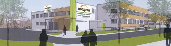Vue d'architecte du nouveau bâtiment de l'association Horizon à Meaux