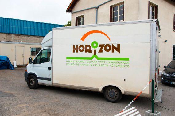 Marquage flanc gauche camion frigorifique utilitaire Horizon