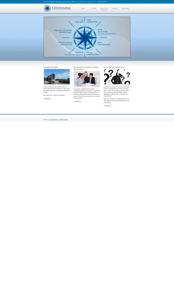 Home page du site Cincinnatus Patrimoine