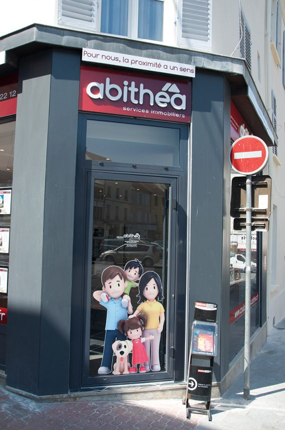 Création et pose d'une enseigne pour l'agence immobilière abithéa a Coulommiers