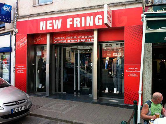 Création et pose d'une enseigne complète du magasin NEW FRING à Coulommiers
