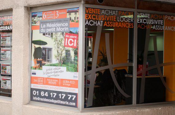 Création et pose de la nouvelle enseigne d'Histoire d'Home à saint germain. façade