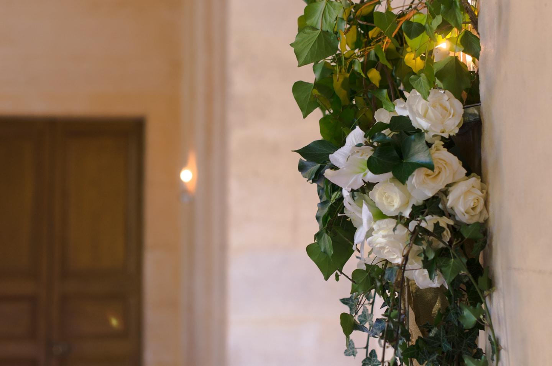 Gros plan de la salle de soirée préparée par France Prestige Services