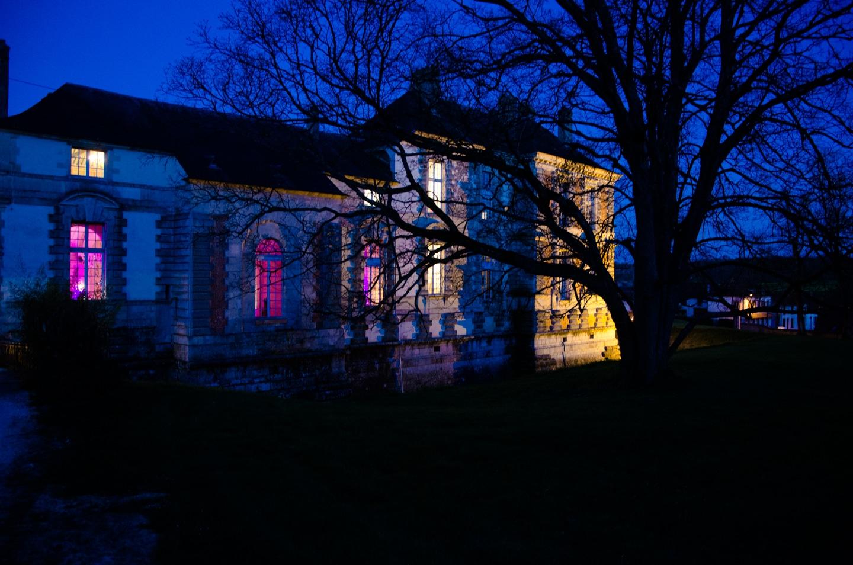 Vue extérieure du château de réception pour le mariage préparé par France Prestige Services