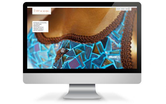 Page accueil du site internet iletaitunemosaique.com