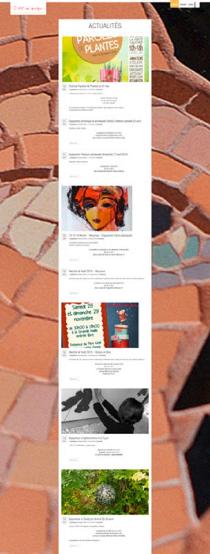 Page actualité du site internet iletaitunemosaique.com