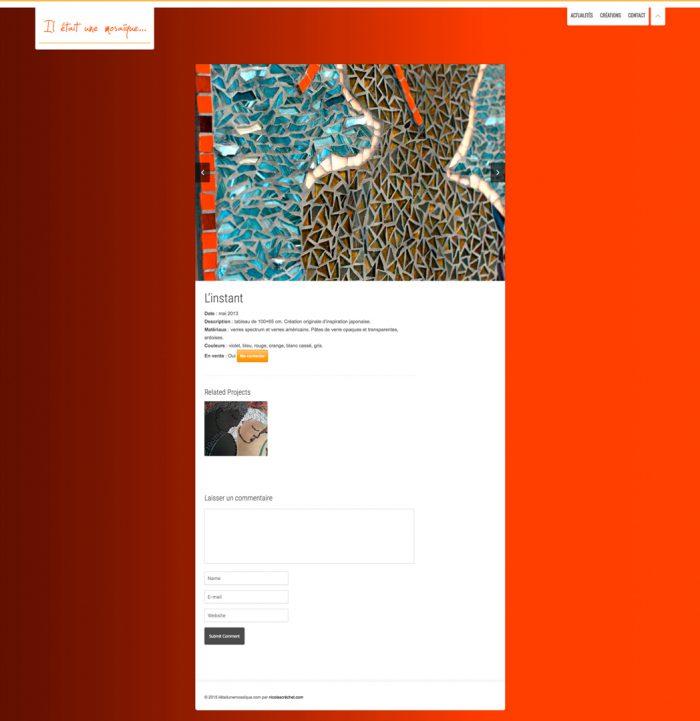 Page création du site internet iletaitunemosaique.com