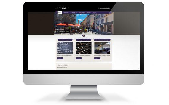 mise en situation de la création du site internet pour le restaurant l'Ardoise