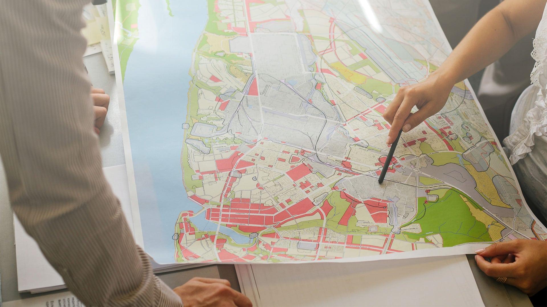 localisation de zones protégées sur un plan