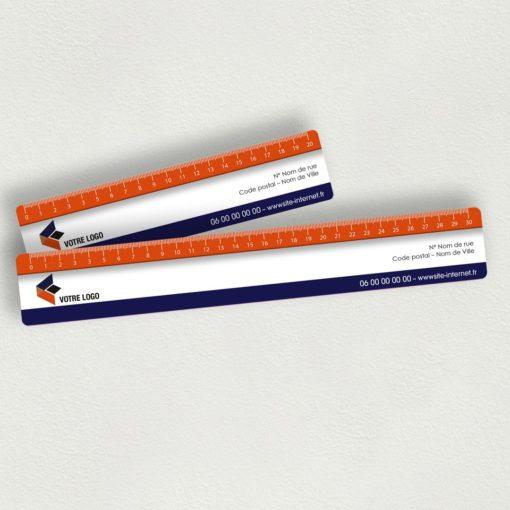 Plan général de la règle PVC prototype 20 cm et 30 cm