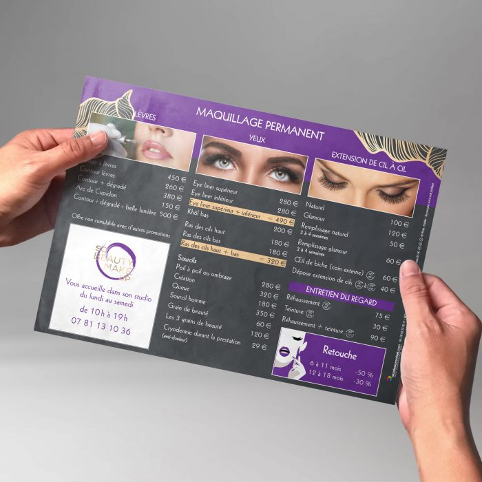 Flyer So beauty make up recto verso