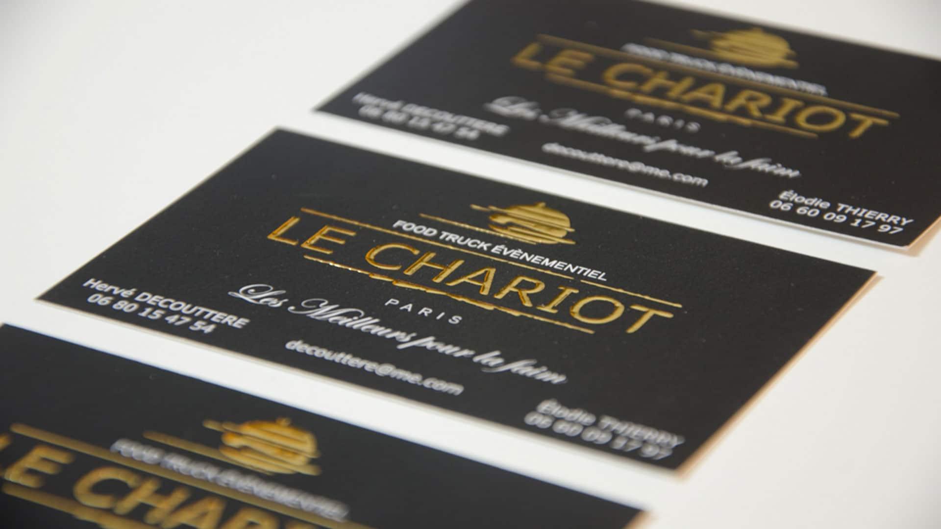 Carte De Visite Pour Le Food Truck Chariot