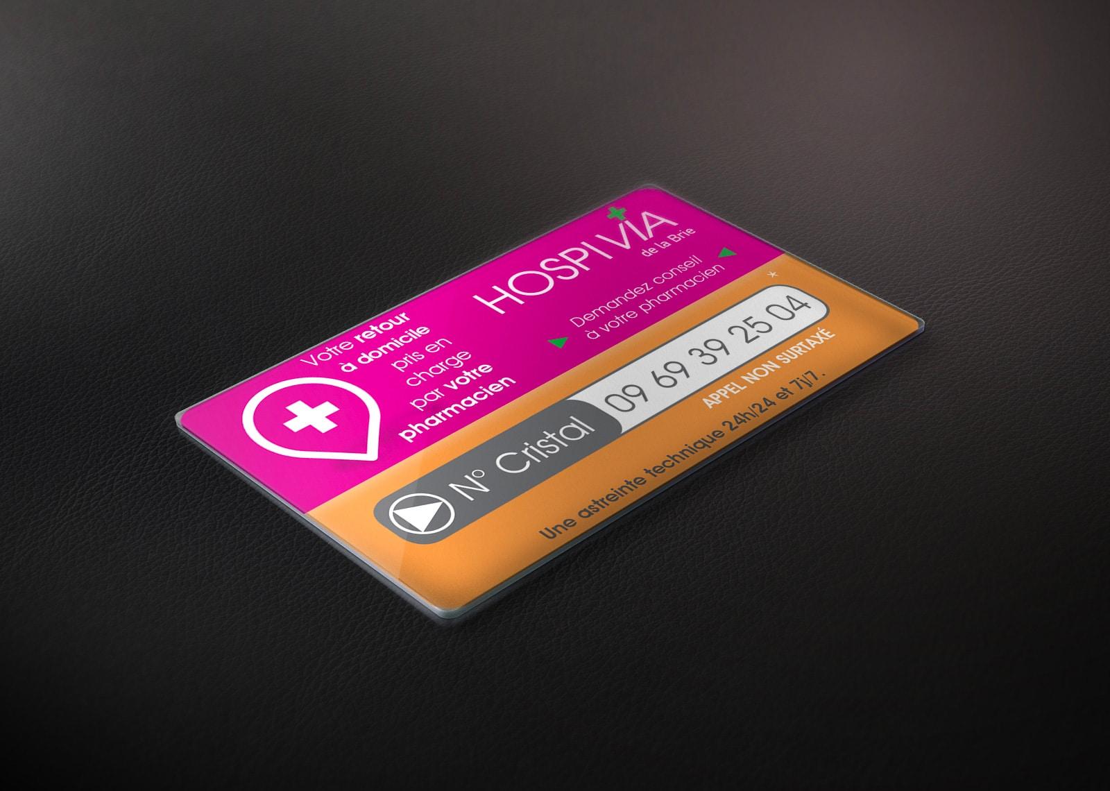 HOSPIVIA CARTE PVC
