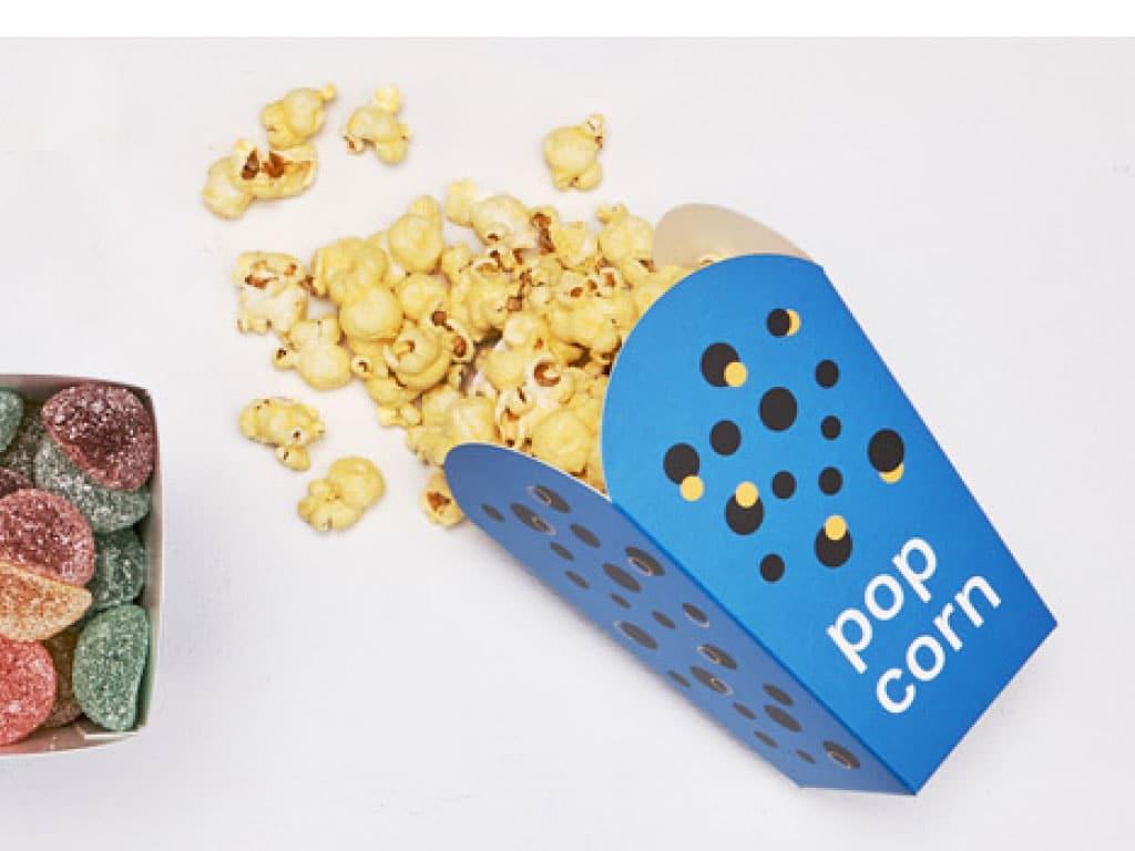 Boite pour popcorn et frites