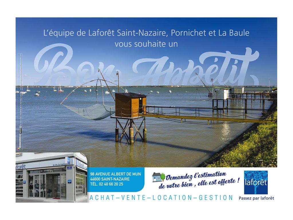 Set de table réalisés pour lagence immobilière Laforêt de Saint-Nazaire