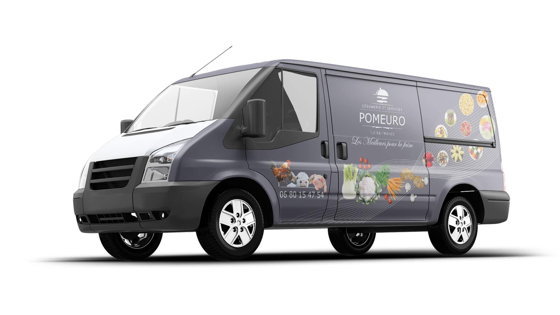 Covering sur camion pour la société Pomeuro à Maisoncelles-en-Brie