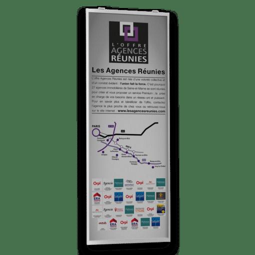 Affiche 42 x 118,9 cm et 29,7 x 84,1 cm pour Les Agences Réunies