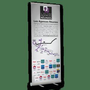 roll'up au format 85 x 200 cm pour Les Agences Réunies