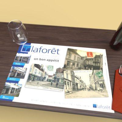Mise en situation du visuel du modèle Histoire du set de table pour Laforêt